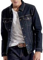 Just No Logo Men's Casual Denim Jacket(Blue,)