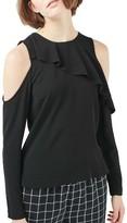 Topshop Women's Izzy Cold Shoulder Top