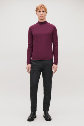 Cos Cashmere Mock-Neck Sweater