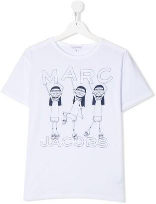 Little Marc Jacobs TEEN girl print T-shirt