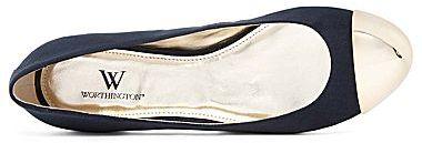 JCPenney Worthington® Meredith Cap-Toe Flats