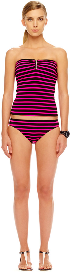 Michael Kors Jardin Striped Swim Bottom