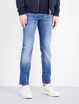 HUGO BOSS Slim-fit tapered cotton-blend jeans