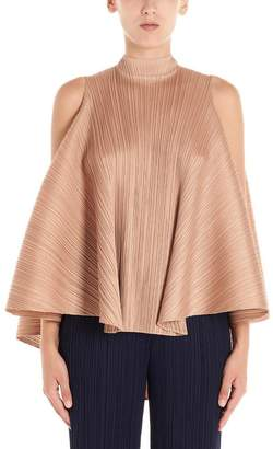 Pleats Please Issey Miyake Pleated Flared Cropped Top