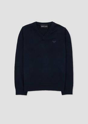 Emporio Armani Cotton Crew Neck Sweater