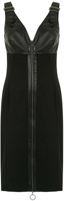 Tufi Duek Leather Panelled Dress