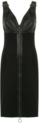 Tufi Duek leather panelled dress