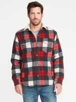 Old Navy Wool-Blend Sherpa-Lined Shirt Jacket for Men