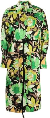 Fendi Floral Print Shirt Dress