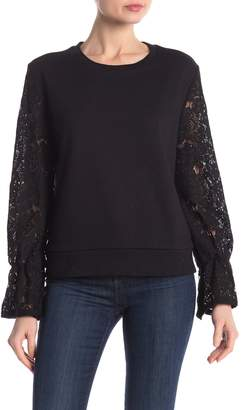 Central Park West Lace Sleeve Sweatshirt