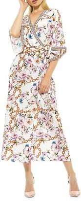 Alexia Admor Mixed-Print Kimono Wrap Dress