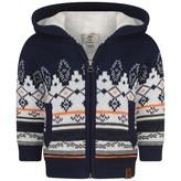 Timberland TimberlandBaby Boys Navy Cotton Knit Jacquard Cardigan