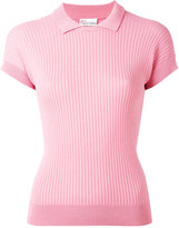 RED Valentino ribbed polo shirt - women - Polyamide/Viscose - S