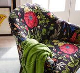 Pottery Barn Ellis Upholstered Armchair - Poppy Botanical Print