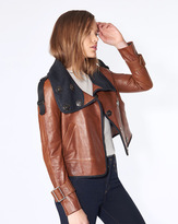 Veronica Beard Lafayette Leather Jacket