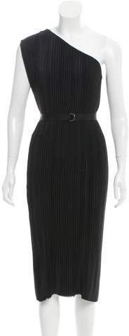 Tome One-Shoulder Plisse Dress w/ Tags