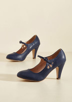 ModCloth Jive O'Clock Somewhere Mary Jane Heel in Navy in 10