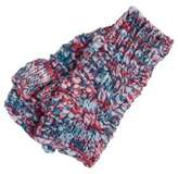 F&F Space Dye Cable Knit Fingerless Mittens
