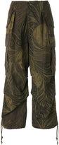 Yohji Yamamoto Army floral camouflage oversized trousers