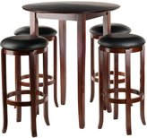 Winsome Wood Fiona 5-Piece Round High Pub Table Set in Antique Finish