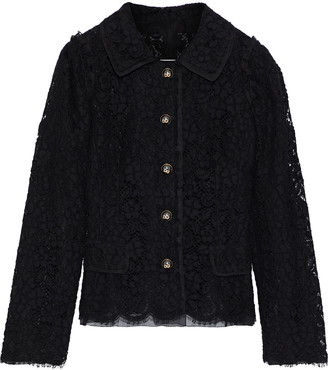 Dolce & Gabbana Button-detailed Cotton-blend Corded Lace Jacket