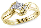 Concerto 0.25CT Diamond 14K Two-Tone Gold Bridal Set