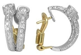 Torrini Liu Collection - 18k White Gold and Diamond Earrings