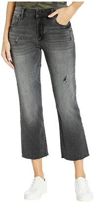 KUT from the Kloth Kelsey Ankle Flare with Raw Hem (Spiritually Wash) Women's Casual Pants