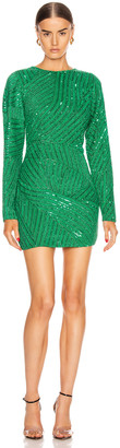 retrofete Ember Dress in Emerald Green | FWRD