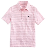 Vineyard Vines Boys' Striped Cotton Polo - Big Kid