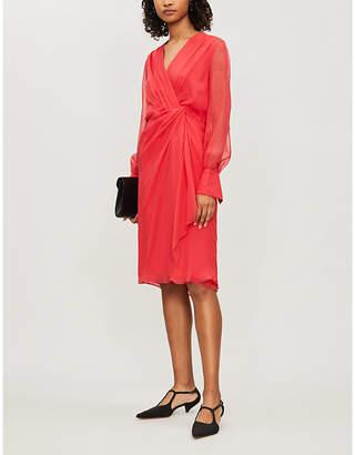 Selfridges Max Mara Elegante Zulma V-neck silk dress