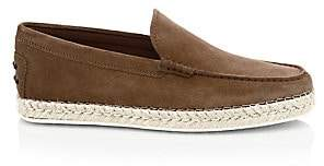 Tod's Men's Suede Espadrille Loafers