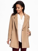 Old Navy Wool-Blend Everyday Coat for Women