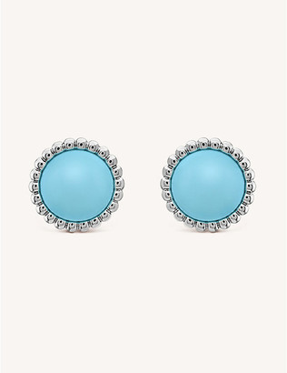 Van Cleef & Arpels Perlee Couleurs white-gold and turquoise stud earrings