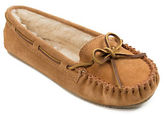 Minnetonka Cally Suede Faux Fur-Lined Moccasins