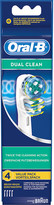 Oral-B Oral B Pack of four dual-clean toothbrush heads