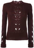 Isabel Marant open knit panel jumper - women - Acrylic/Polyamide/Mohair/Alpaca - 36