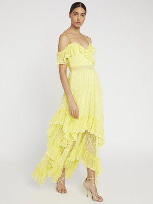 Alice + Olivia Harper Cold Shoulder Maxi Dress