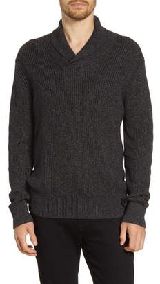 French Connection Marled Shawl Collar Sweater