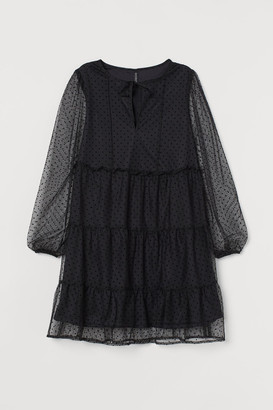 H&M Short Chiffon Dress - Black