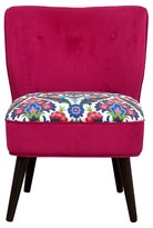 Nobrand No Brand Curved Back Slipper Chair - Pink / Print - Boho Boutique