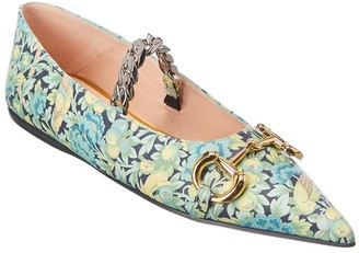Gucci Leather Ballet Flat