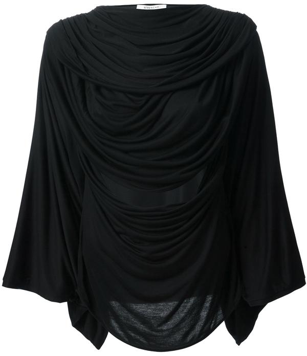 Givenchy Long Sleeve Draped Top