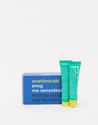 Anatomicals snog me senseless minty tingling lip balm and peppermint lip scrub