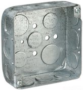 Thomas & Betts Steel City 52151-1/2-3/4 Pre-Galvanized Steel Square Box with 1/2-Inch and 3/...