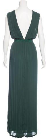 Veronique Branquinho Pleated Evening Dress