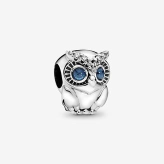 Pandora Sparkling Owl Charm