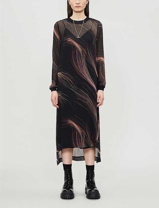 AllSaints Ada crepe midi dress