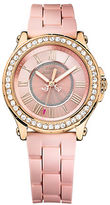 Juicy Couture Ladies Pedigree Goldtone and Silicone Watch