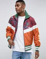 Asos Zip Through Track Jacket With Palm Print
